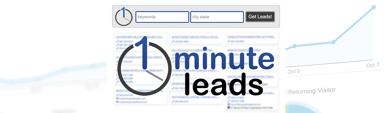 "Announcing: ""One Minute Leads"" for Real Estate Investors"