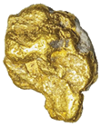 one gold nugget